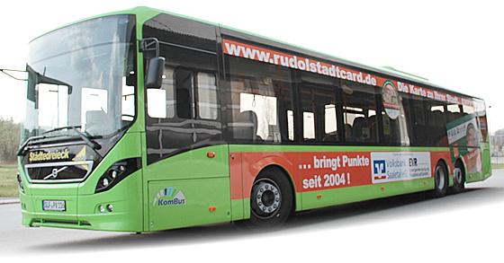 Der RudolstadtCard-Bus - seit April 2014 unterwegs.